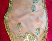 Vintage green embroidered...