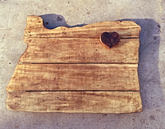 Items Similar To Reclaimed Pallet Wood Oregon State Sign