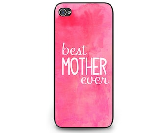 Best Mom Ever Phone Case - Pink Watercolor Phone Case - Mother's Day Gift for Mom - Pink Watercolor iPhone 6 Case