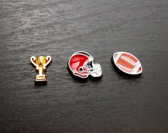 Football Floating Charm for Floating Lockets-Gift Idea for Women