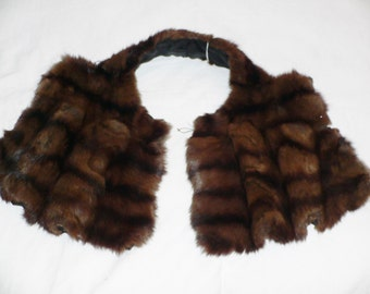 1930's 1940's Brown Fur Collar