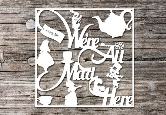 Commercial Use Papercutting Template Alice In Wonderland