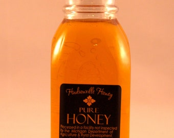 Classic Glass Muth Honey Jar of Fine Michigan Wildflower Honey - 8 ounce jar