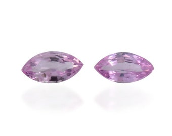 Pink Sapphire Loose Gemstones Set of 2 Marquise Cut 1A Quality 4x2mm TGW 0.15 cts.