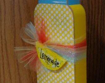 Seasonal Decor-Summer Decor-Shelf Sitter-Lemonade jar