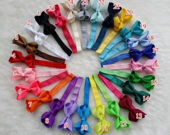 "10% off ! 25 pack 3"" baby Headband,hair bow with headband, infant headband bow ,elastic headband set,foldover hair band, Todders headband R2"