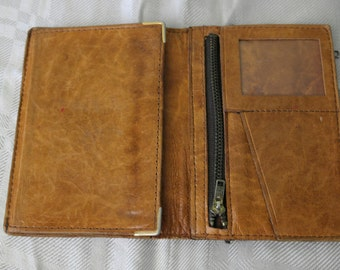 Very 70's handmade leather wallet