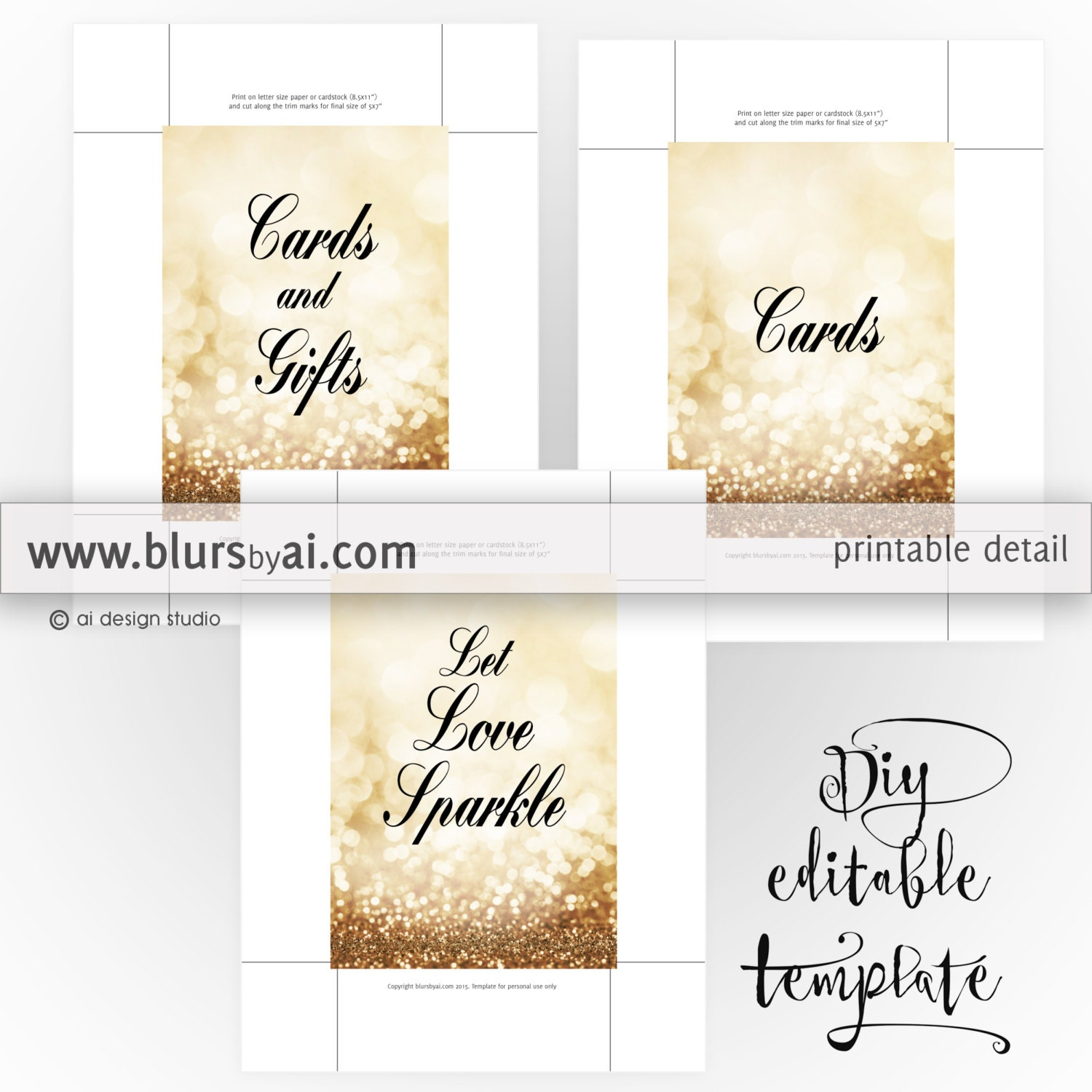 Gold color cardstock paper 5x7 - This Is A Digital File