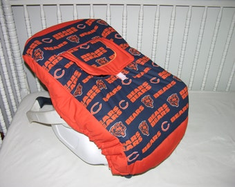 New Infant Seat Carrier Cover m/w Chicago Bears Fabric