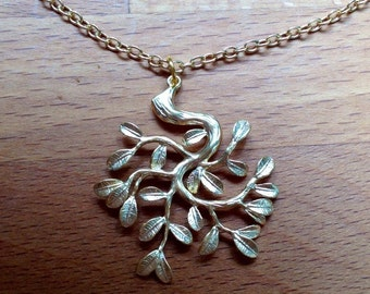 Gold Bonsai tree necklace