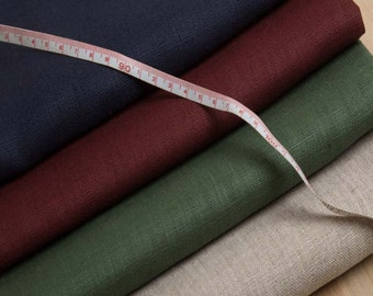 1 Yd 100% Flax Linen Fabric - 47 Colors - Medium Weight Dyed 100 Percent Ecofriendly Pure Flax Linen Fabric