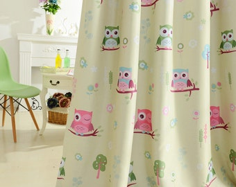 Popular items for kids room curtain on etsy for Curtain fabric for baby nursery