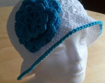 Baby sun hat girls sun hat with pretty flower embellishment sizes birth to 12 years