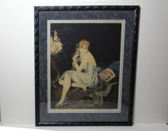 Rare Signed 1926 William Ablett Aquatint Etching Estampe Moderne