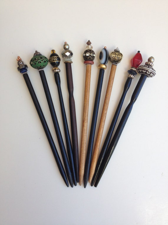 Jabberduck Shawl Pins Decorative Hair Sticks Wooden