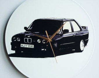 E30 BMW M3 -  12″ Vinyl Record Wall Clock