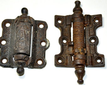 Antique Door Hinges. Antique Door Hardware.Victorian Hardware.Antique Hardware.Restoration Hardware. Eastlake Hardware.Cast Iron Door Hinge.