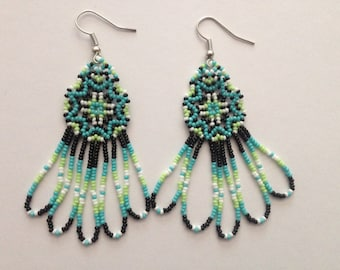Handmade Native American Beaded Earrings
