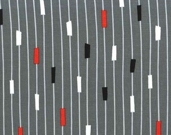 Jug or Not Retro String Theory Gray for Michael Miller Fabrics 2041