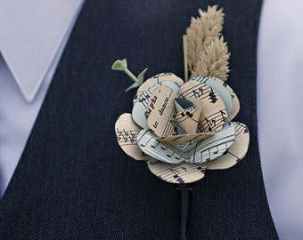 CUSTOM Paper Flower Boutonniere/Corsage