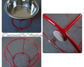 2 Qt Pet Bowl Stand with Stainless Steel Bowl