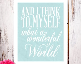 A Wonderful World Art Print