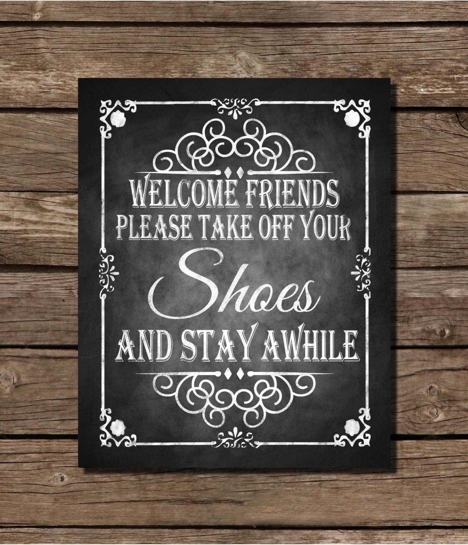 Printable chalkboard wedding sign or home decoration welcome for Printable chalkboard signs