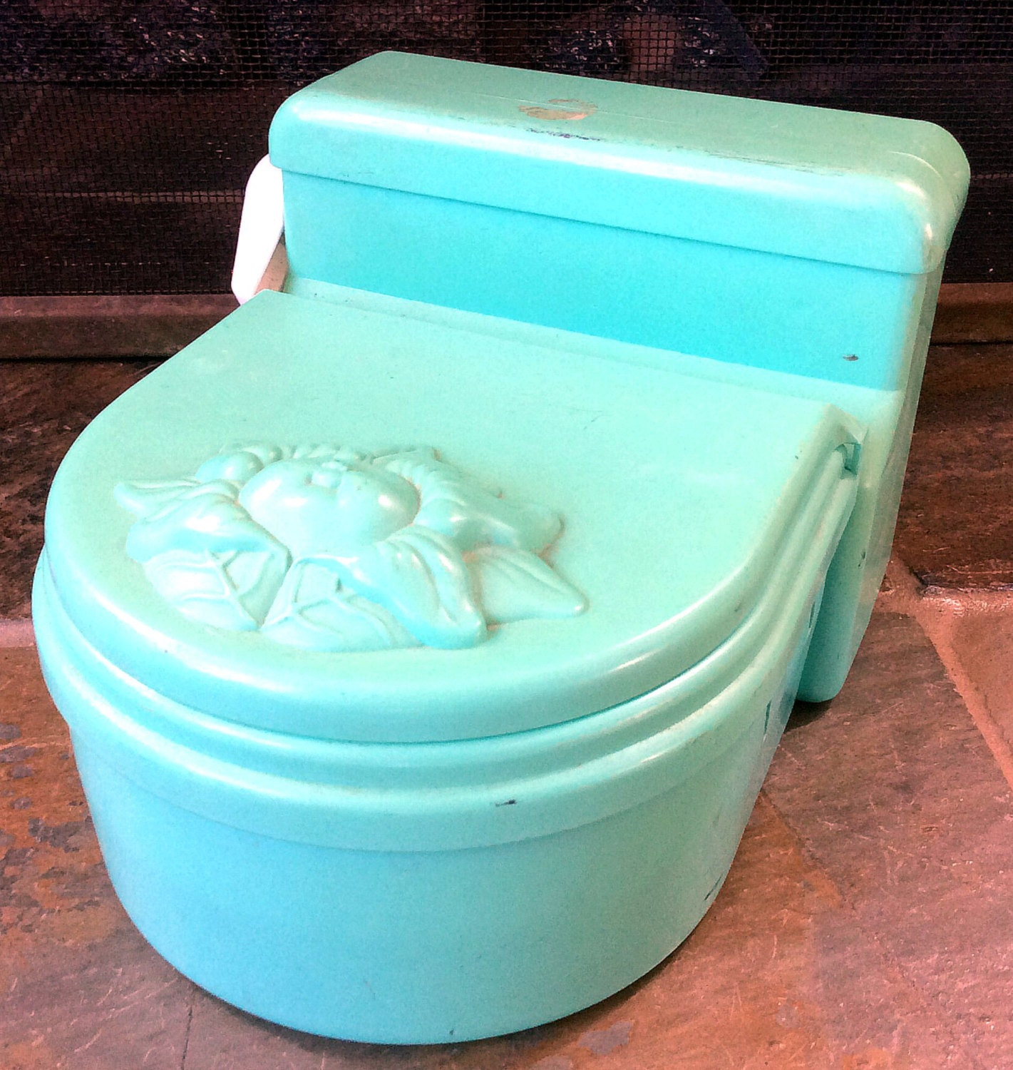 Toy Toilet Flushing Sound : Vintage antique estate hasbro cabbage patch doll toy