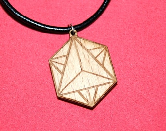 Wooden Pendant - Tetrahedron-Star