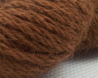 Scottish Alpaca DK Yarn in Natural Toffee colour, not dyed.