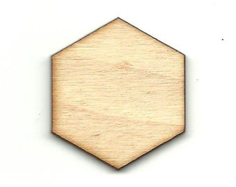Hexagon - Laser Cut OutUnfinished Wood Shape Craft Supply BSC17