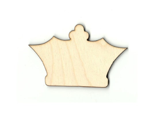 Crown Laser Cut Out Unfinished Wood Shape Craft Supply CLT24