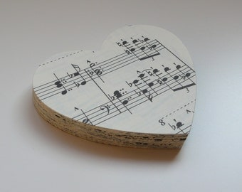 50 Hearts, Sheet music, 2.6 by 2.4 inches, #36