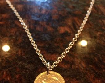 Malta 10 cents coin necklace