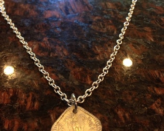 India 5 Paise coin necklace