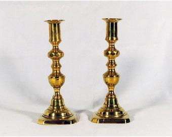 Pair of 19th century English candle sticks