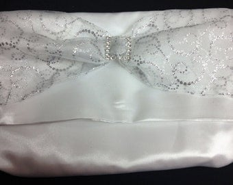 The Sparkle: Clutch Purse (White with Silver)