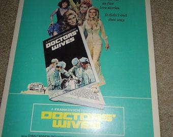 Original 1971 Doctors Wives Window Card Movie Poster Gene Hackman