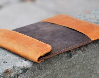 iPad Sleeve,iPad Case,iPad Cover,iPad Organizer,leather iPad case,iPad tablet case,tablet sleeve case,iPad,tablet case,C011 Ginger+Brown