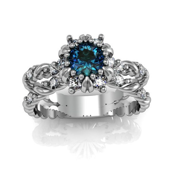 deco ring antique style sterling silver by