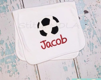 Soccer Bib or Burp Cloth