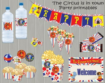 Circus Birthday Party theme  – DIY Full Package Printable - Personalized