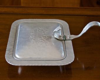 Vintage Hand Hammered Keystoneware Aluminium Hinged Serving Tray # 341