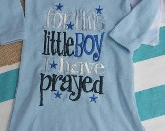 Baby boy hospital gown