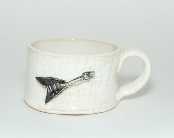 Black and white Flying V Mug