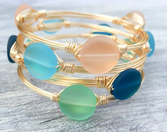 Fresh Water Pearl Wire Wrapped Bangle
