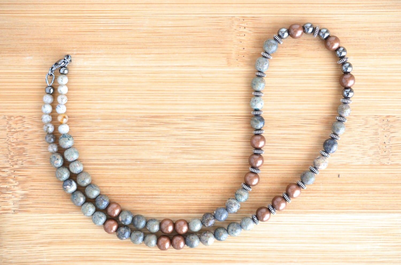 s bead necklace unisex necklace gemstone
