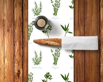 Fresh Herbs Table Runner, Fresh Herbs Decor, Fresh Herbs Kitchen Decor, Fresh Herbs Table Linens, Parsley Sage Rosemary and Thyme