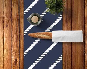 Nautical Table Decor, Nautical Table Runner Blue, Nautical Rope Table Runner Navy, Blue Table Runner, Lake Table Runner, Hostess Gift