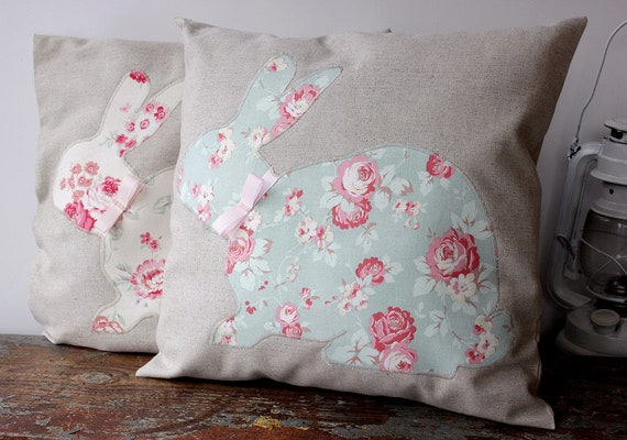 Easter Throw Pillow Covers : Bunny Rabbit Pillow Kids Pillow Easter Teen Pillow Cover
